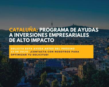 Cataluña ayudas inversiones